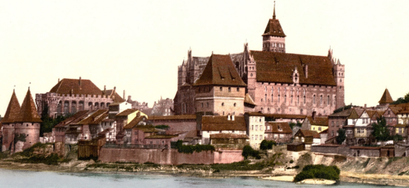 MEDIAEVAL MARIENBURG was destroyed in World War 2